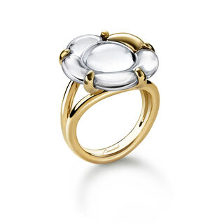 B FLOWER RING  Mirror clear Image