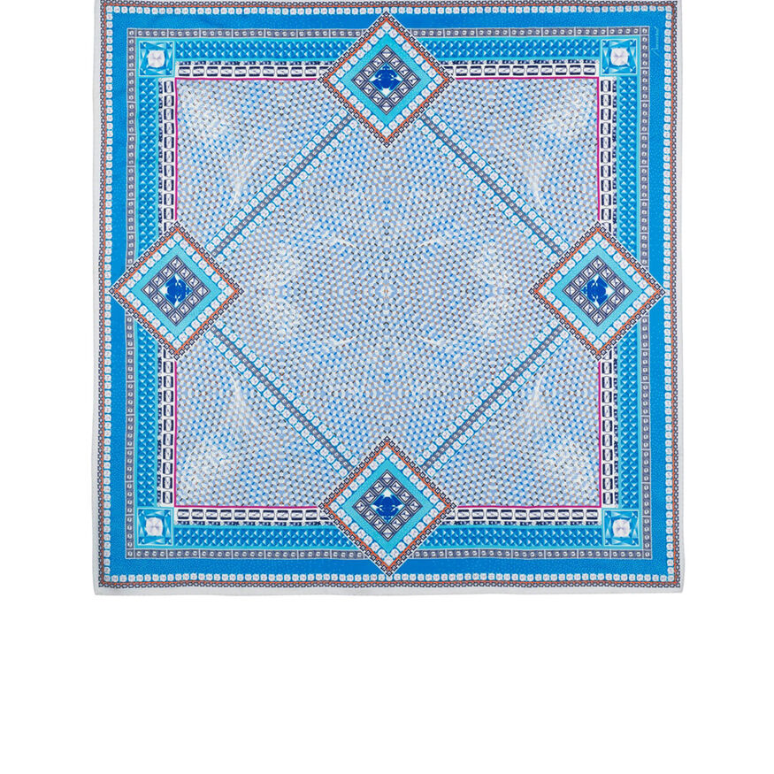 LOUXOR SILK TWILL SCARF  Light blue Image