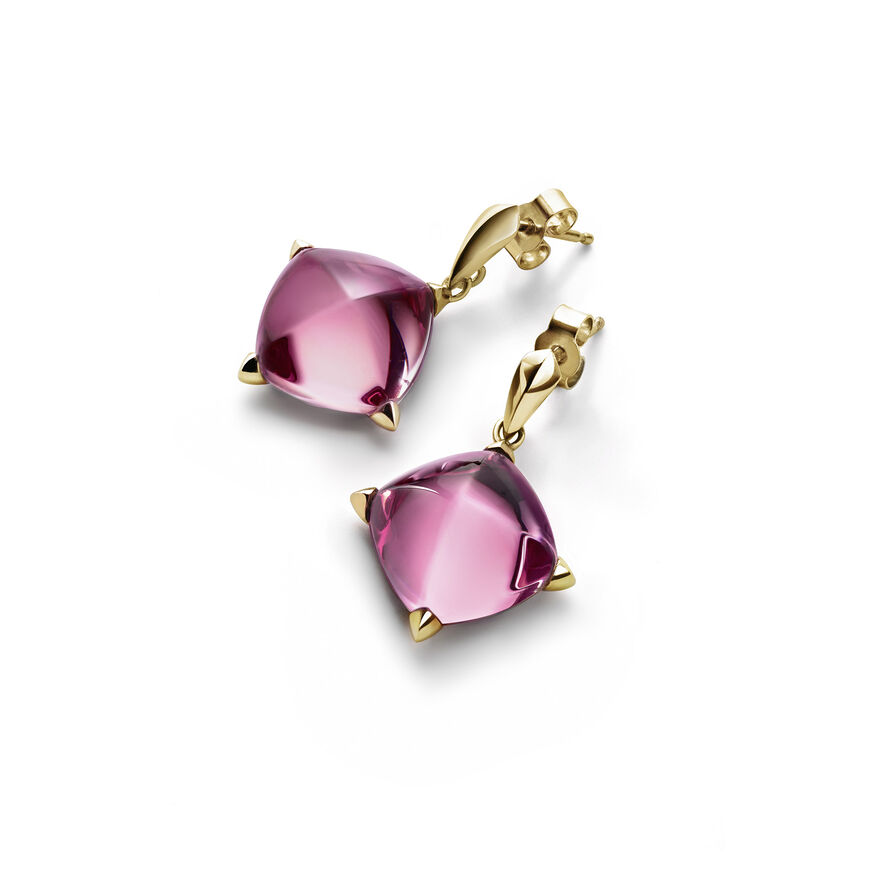 MÉDICIS EARRINGS  Pink mirror