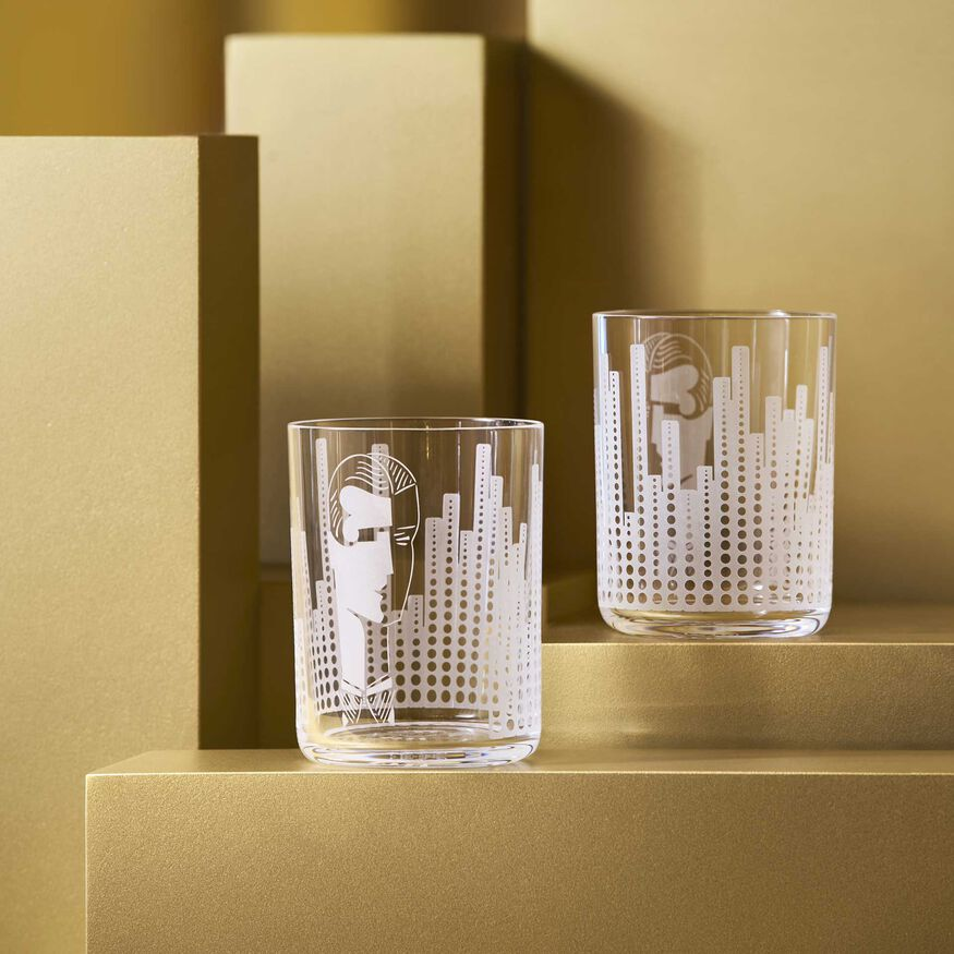 VERRES DE LÉGENDE NEW YORK 1934    - 2