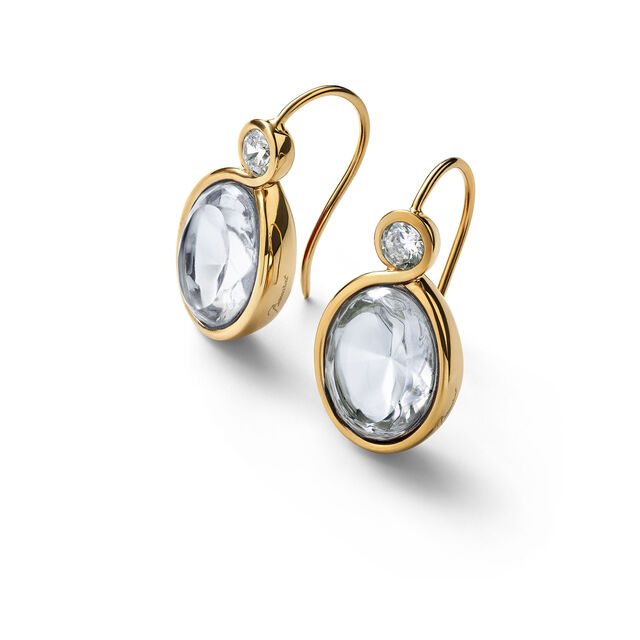 Croisé Earrings, Clear