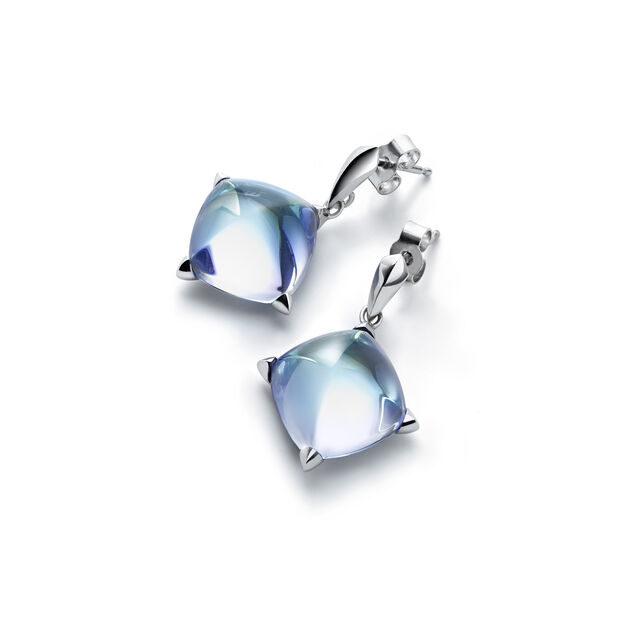 MÉDICIS EARRINGS, Aqua mirror
