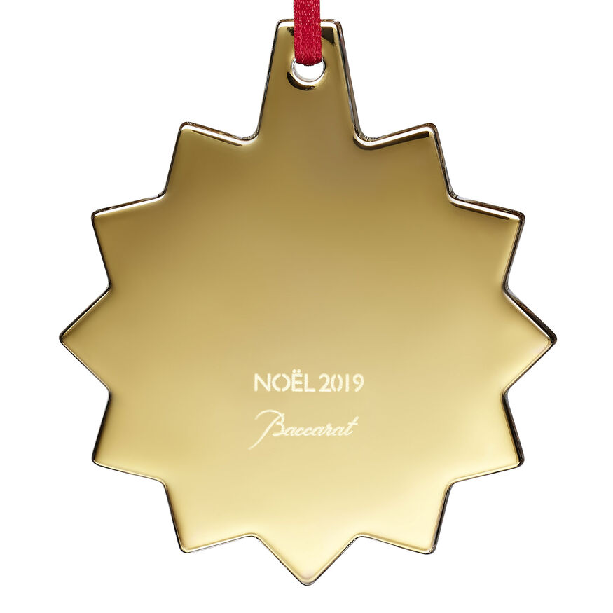 CHRISTMAS ANNUAL ORNAMENT ENGRAVED NOËL 2019, Gold - 3