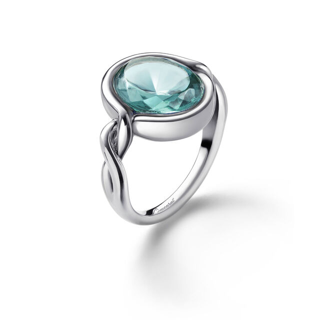 Croisé Ring turquoise silver