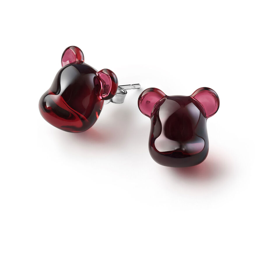 BACCARAT BE@RBRICK EARRINGS, Red