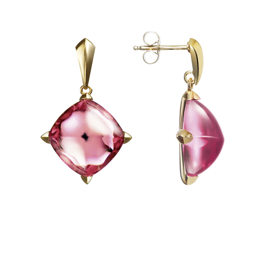 MÉDICIS EARRINGS  Pink mirror - 2