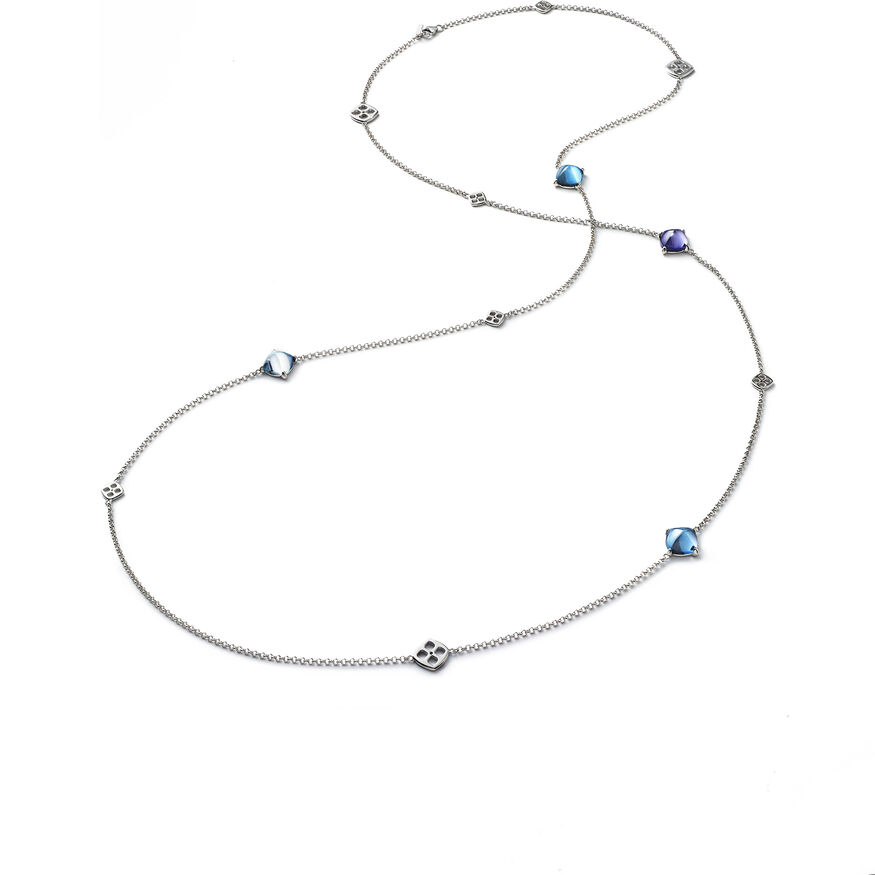 MINI MÉDICIS LONG NECKLACE, Multico