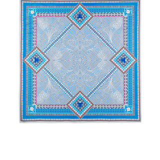 LOUXOR SILK TWILL SCARF  Light blue