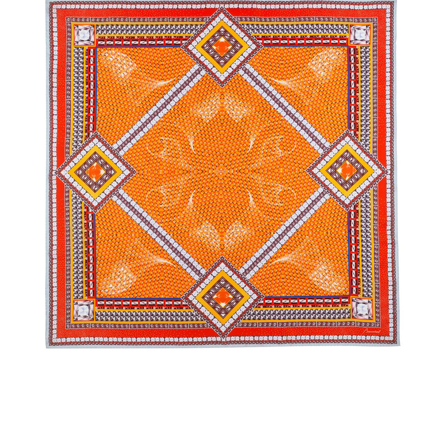 LOUXOR CARRÉ TWILL DE SOIE, Orange