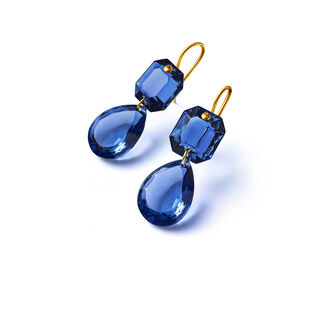 CRYSTAL DROPS OF COLOUR BACCARAT PAR MARIE-HÉLÈNE DE TAILLAC EARRINGS  Blue Image