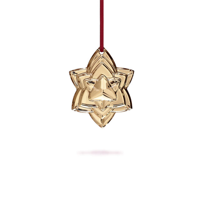"""CHRISTMAS ANNUAL ORNAMENT ENGRAVED """"NOËL 2018"""", Gold"""