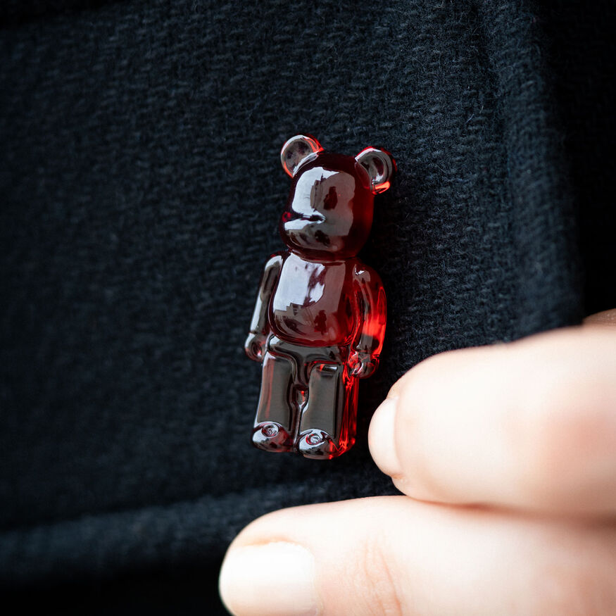 BACCARAT BE@RBRICK PINS, Rouge - 2