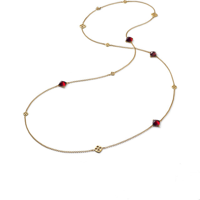 MINI MÉDICIS LONG NECKLACE, Red