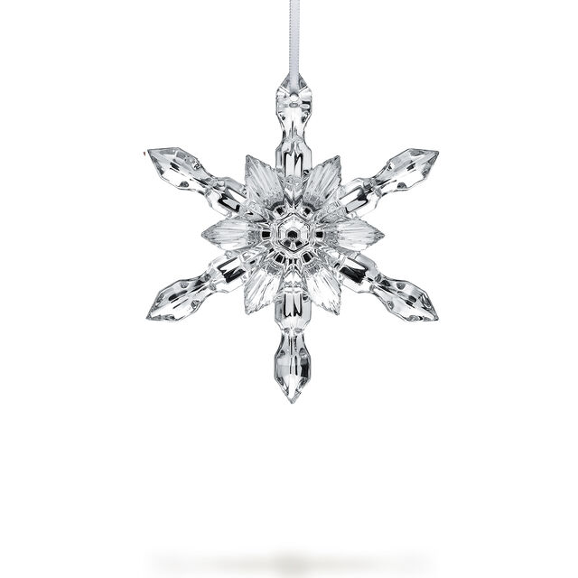 CHRISTMAS SILVER SNOWFLAKE ORNAMENT,
