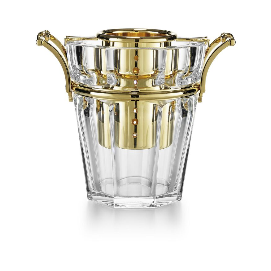 HARCOURT CHAMPAGNE COOLER, Clear & gold - 1