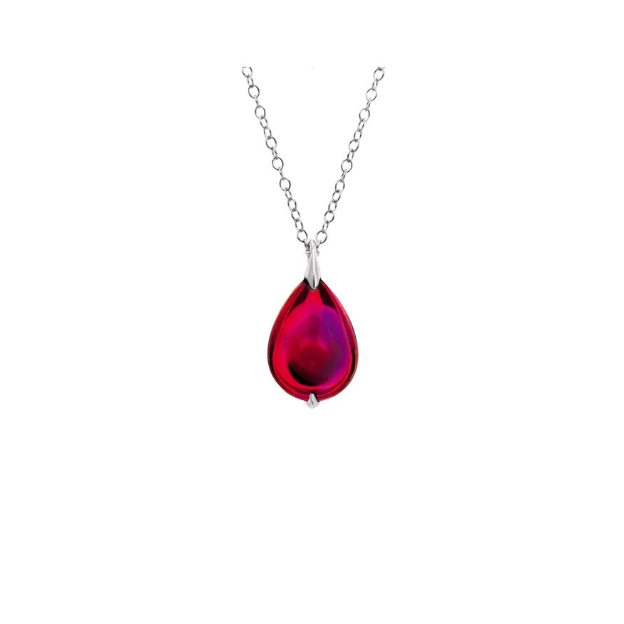 FLEURS DE PSYDÉLIC NECKLACE, Iridescent red - 2