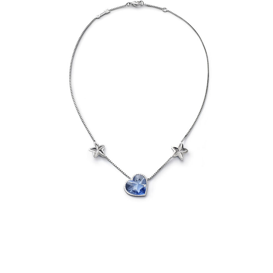 ÉTOILE DE MON COEUR NECKLACE, Light blue