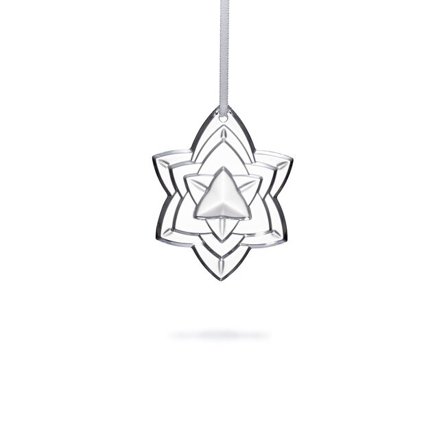 "CHRISTMAS ANNUAL ORNAMENT ENGRAVED ""NOËL 2018"", Clear"