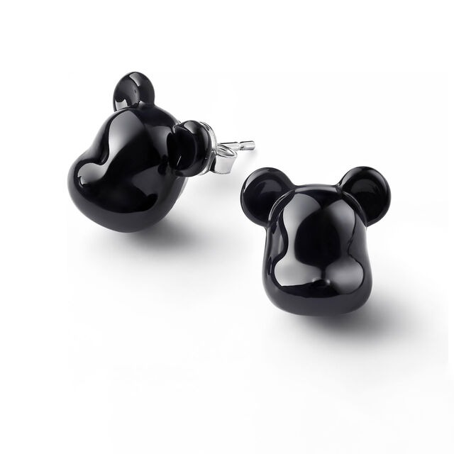 BACCARAT BE@RBRICK EARRINGS, Black