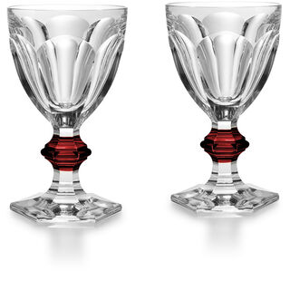 HARCOURT 1841 GLASS  Clear & red