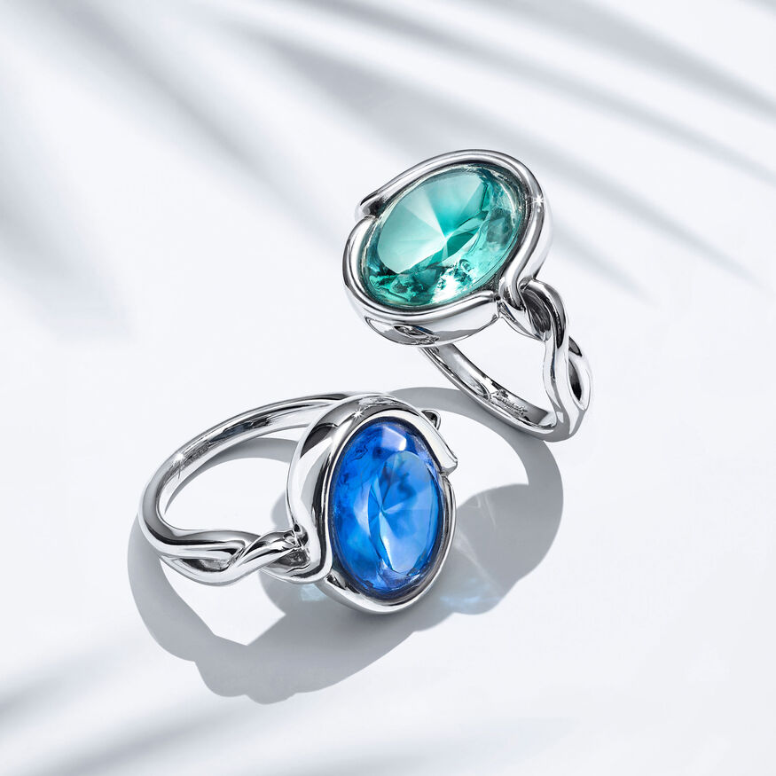 Croisé Ring turquoise silver, Turquoise - 2