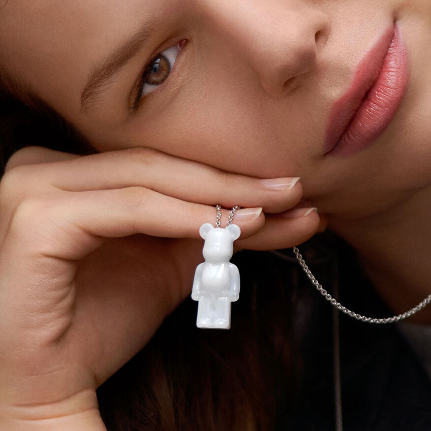 BACCARAT BE@RBRICK NECKLACE, White - 2