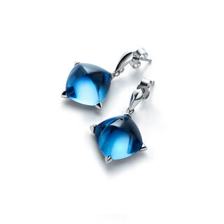 MÉDICIS EARRINGS  Riviera blue Image