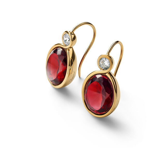 Croisé Earrings red vermeil