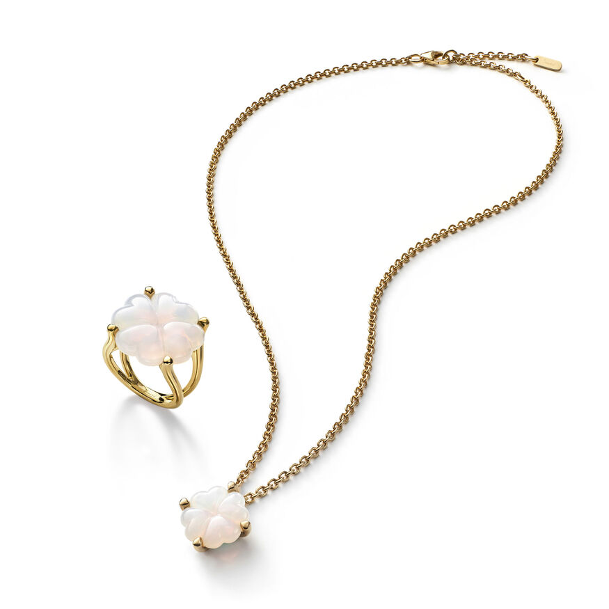 TRÈFLE NECKLACE, White - 3