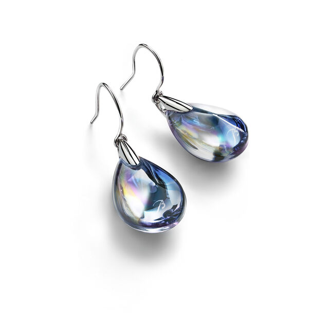 PSYDÉLIC EARRINGS, Iridescent clear