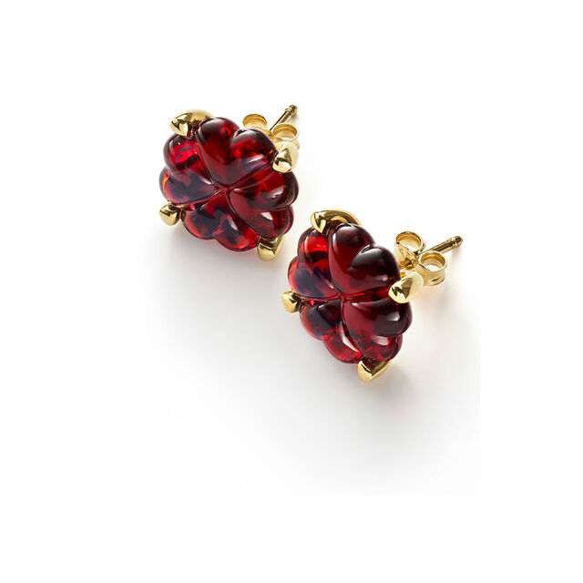 TRÈFLE EARRINGS, Red